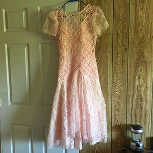 VINTAGE - 80s Pink Formal Dress/Costume